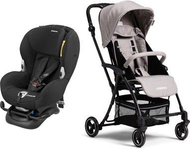 Maxi-Cosi Mobi XP, Night Black Reisepakke Moweo Turn Light Trille, Grey