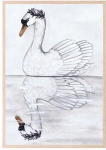 That's Mine Poster Swan Reflection 30x40