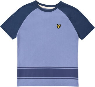 Lyle & Scott Junior Ringer Raglan T-Shirt, Mid Blue