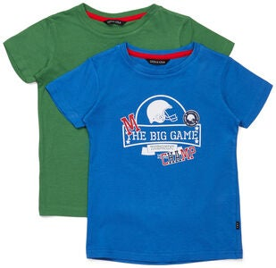 Luca & Lola San Marino T-Shirt 2-pack, Blue/Green