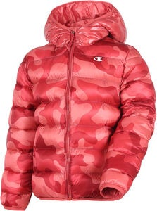 Champion Kids Hooded Jakke, Mineral Red