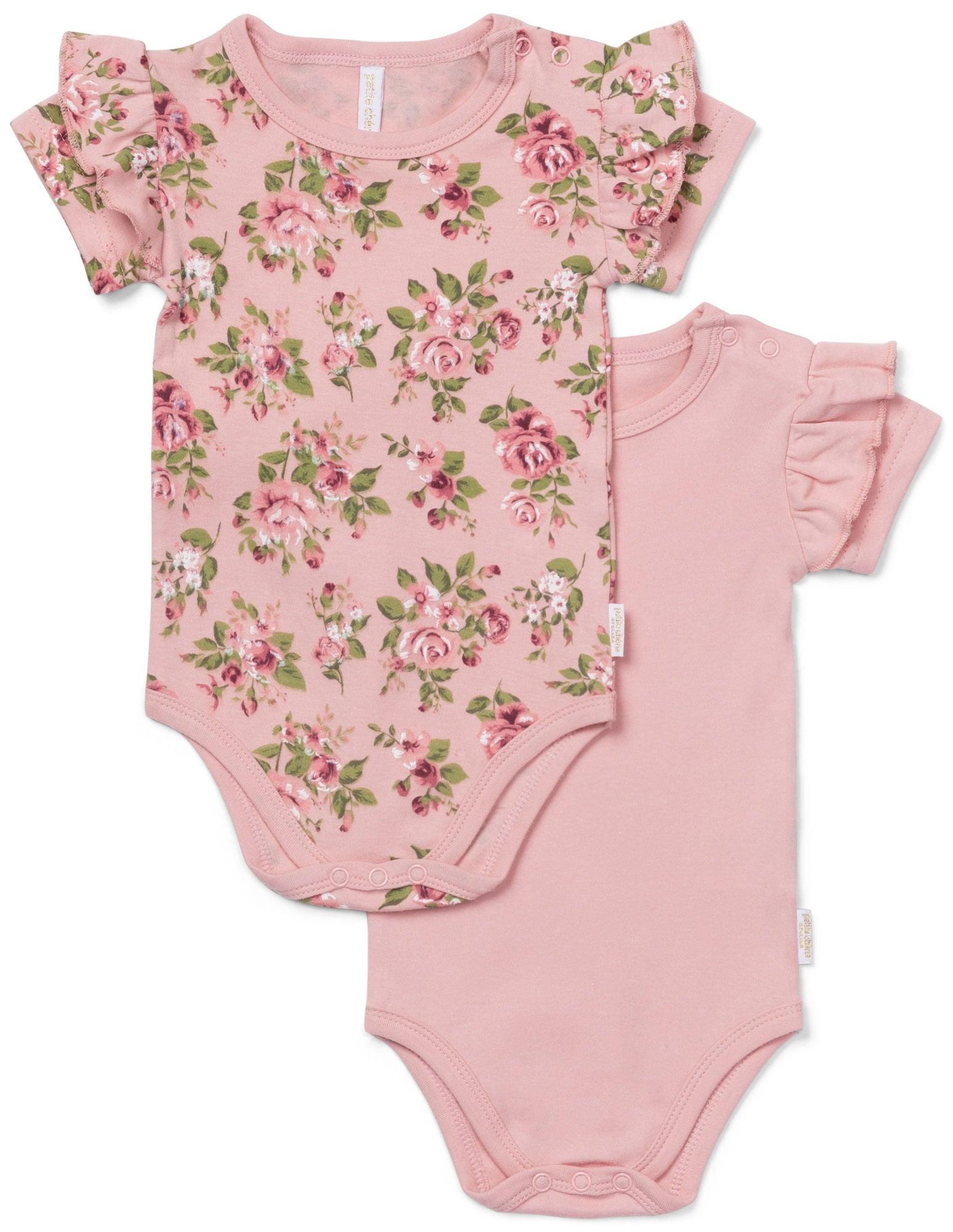 1be7b94b Petite Chérie Atelier Catrin Body 2-Pack, Pink/Flowers