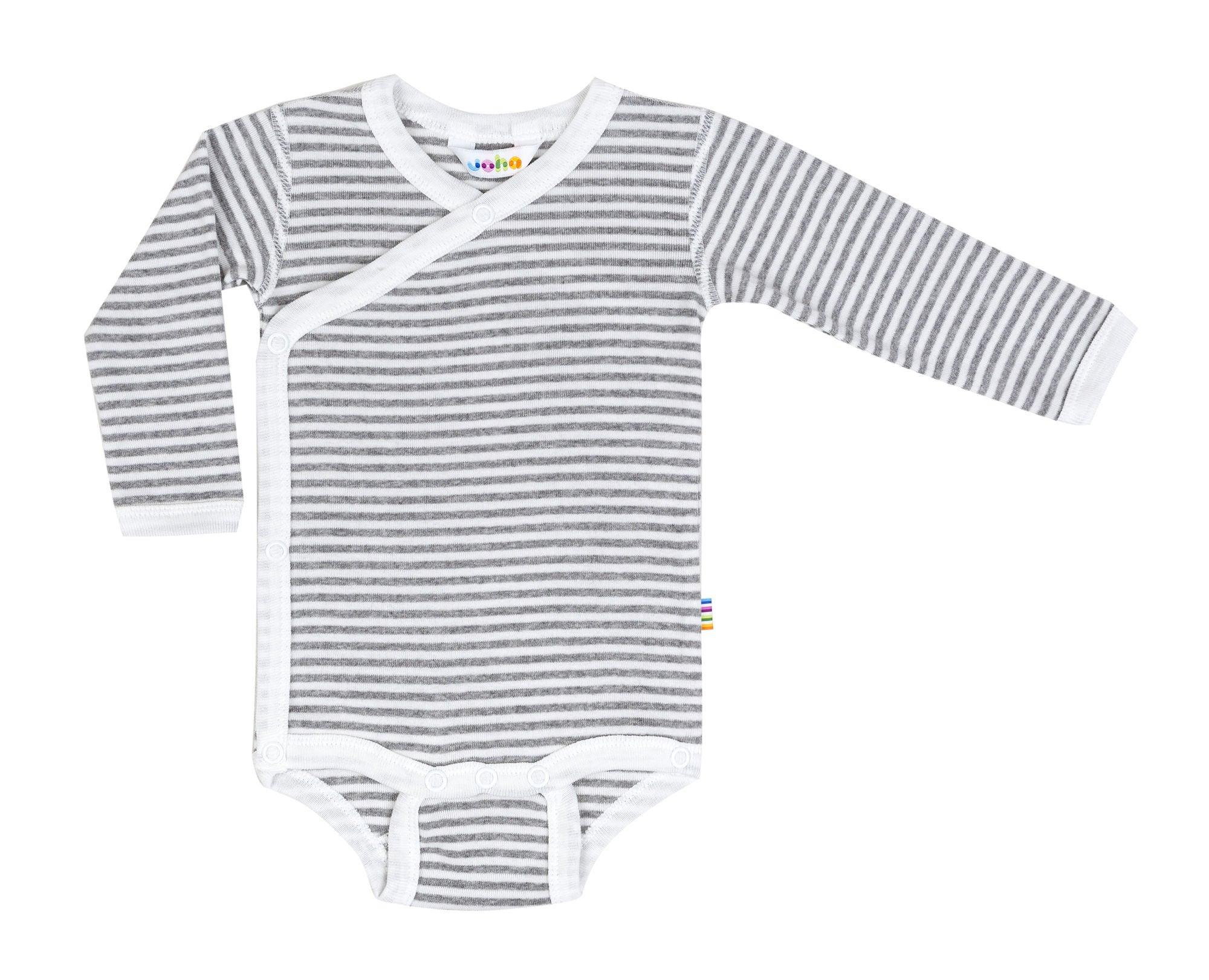 Joha Body Omlott Stripe, Grå/Hvit str 40