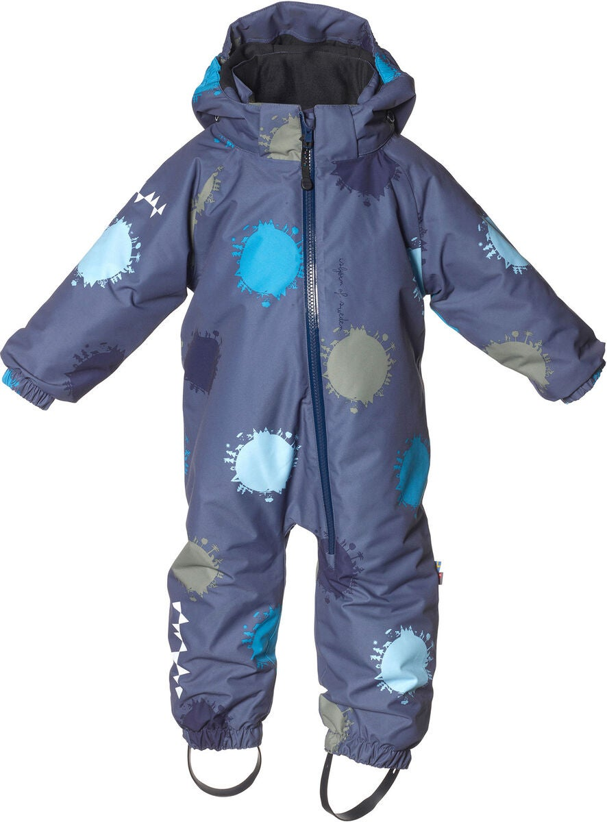 Isbjörn Toddler Vinterdress, Denim Globe