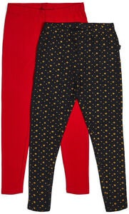 Luca & Lola Linda Leggings 2-pack, Tap Shoe/Red