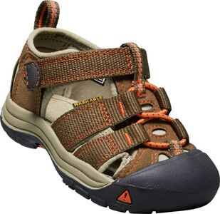KEEN Newport H2 Toddlers Sandal, Dark Earth/Spicy Orange