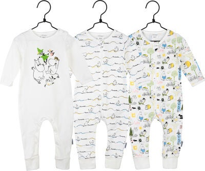 Mummitrollet 3-Pack Jumpsuit