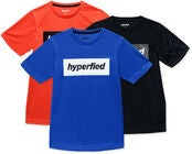 Hyperfied Edge T-Shirt 3-pack, Black/Blue/Koi