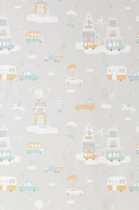Majvillan Tapet Above The Clouds, Soft Grey