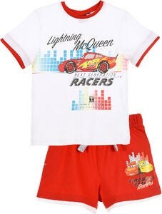 Disney Cars T-Shirt & Shorts, Hvit