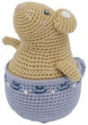 Sebra Buttercup the Mouse Tilting Toy, Goulden Hour Yellow