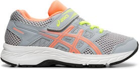 Asics Contend 5 PS Sneaker, Piedmont Grey/Sun Coral