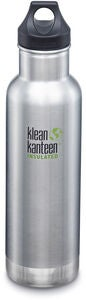 Klean Kanteen Insulated Classic Loop Cap Vannflaske 592ml, Brushed Stainless