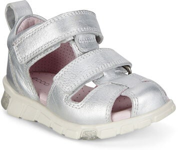 ECCO Mini Stride Sandal, Silver Metallic