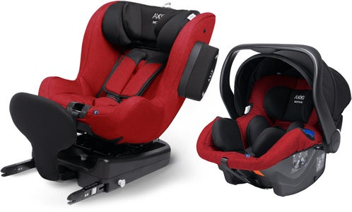 Axkid Modukid Seat Bilstol, Red + Infant Babybilstol Inkl. Base