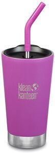 Klean Kanteen Insulated Tumbler med Sugerørlokk 473ml, Berry Bright