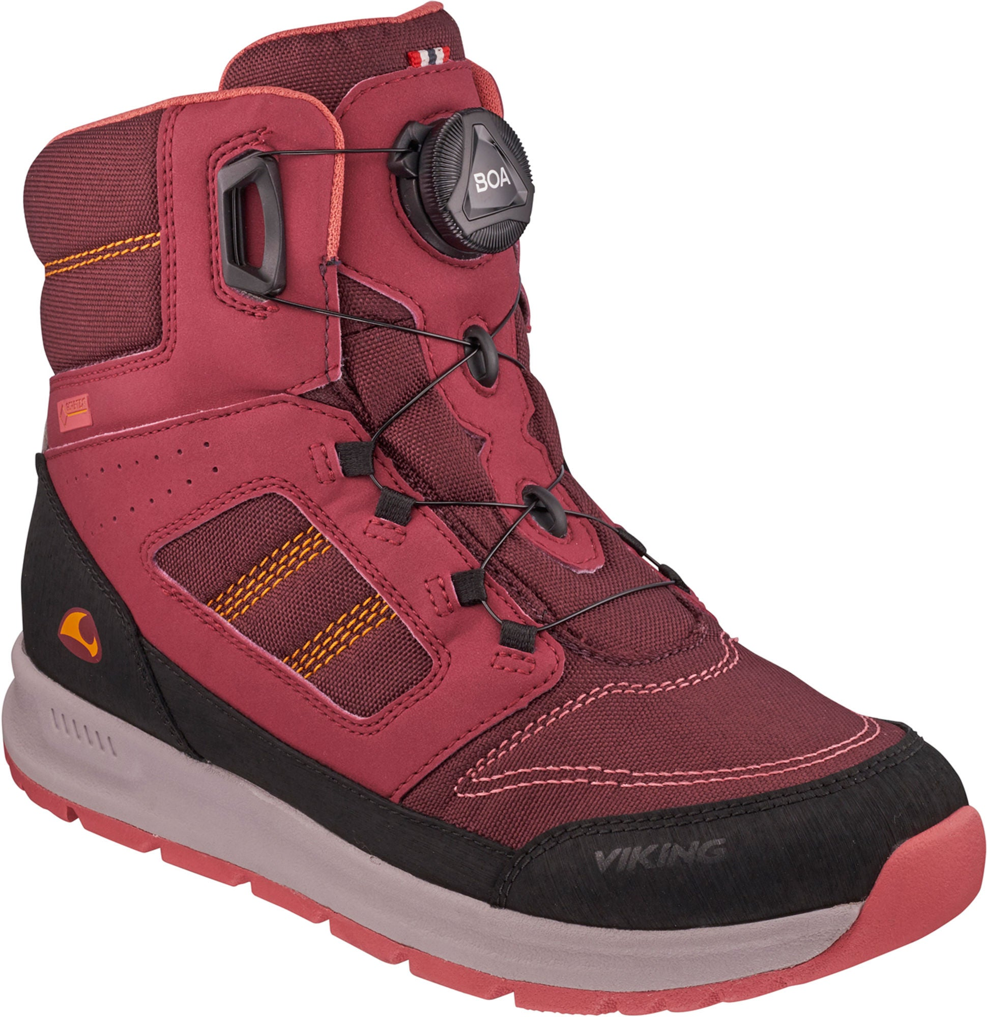 Viking Tryvann Boa GTX Vintersko, Dark Red/Wine 37