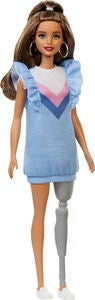 Barbie Fashionistas Dukke 121 Blue Ruffle Dress