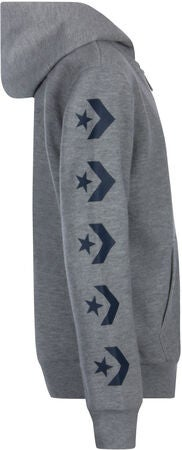 Converse Chevron Hoodie, Dark Grey Heather/Navy