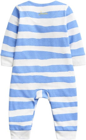 Tom Joule Applique Jumpsuit, Blue Stripe Otter
