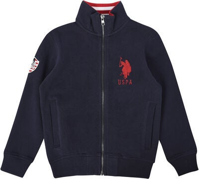 U.S. Polo Assn. USPA Funnel Fleecejakke, Navy
