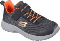 Skechers Dynamight Sneaker, Charcoal/Orange