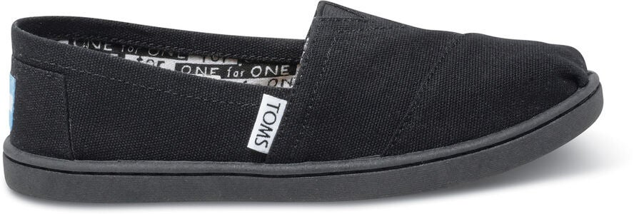 TOMS Alpargata Tøysko, Black Canvas