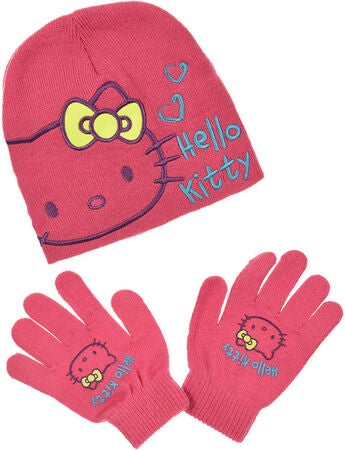 Hello Kitty Sett Lue & Votter, Pink