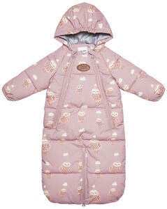 Petite Chérie Babydress Vognpose Winter Owl, Woodrose