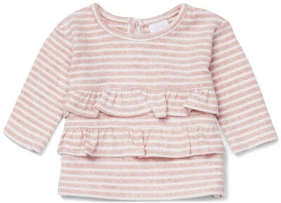 Luca & Lola Asia Genser Baby, Pink Stripes