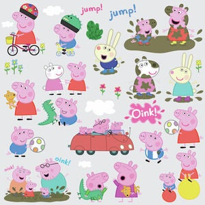 RoomMates Wallsticker Peppa Pig