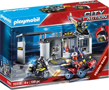 Playmobil 70338 Lekesett Tactical Unit Headquarters I Veske