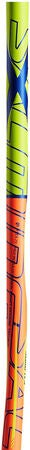 Salming Q1 X-shaft KZ TC 3° JR Innebandykølle Høyre, Orange/Yellow