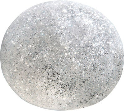 OrbBallz Small Glitter Slime, Silver