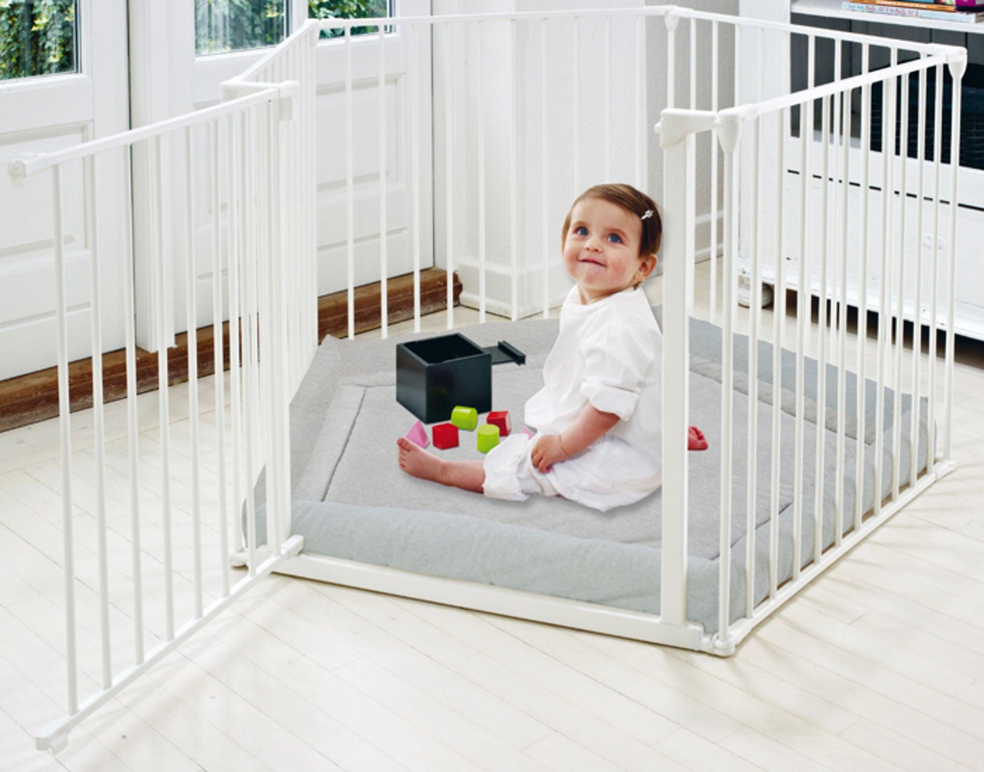 BabyDan Lekegrind Flex Inkl. Lekematte Hvit
