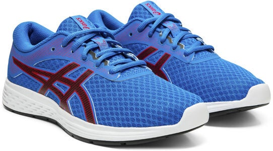 Asics Patriot 11 GS Sneaker, Electric Blue/Speed Red