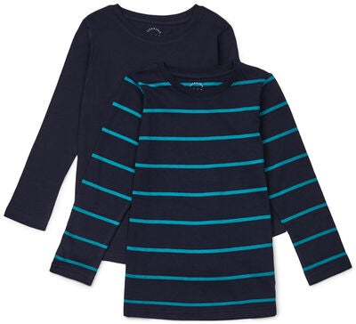 Luca & Lola Nario Genser 2-pack, Green/Navy Stripes