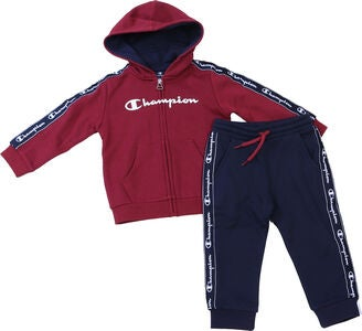 Champion Kids Hooded Overdel og Bukse, Biking Red