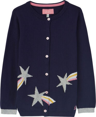 Tom Joule Madison Intarsia Kofte, Navy Shooting Star