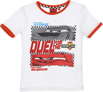 Disney Cars T-Shirt, Hvit