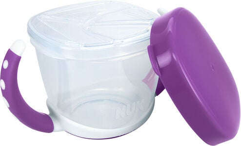NUK Easy Learning Snack Box Matboks, Violet