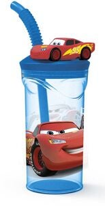 Disney Cars Glass med Lokk, Blå