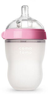 Comotomo Natural Feel Tåteflaske 250ml, Rosa