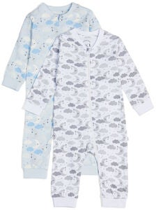 Luca & Lola Fiore Pyjamas 2-pack, Blue Clouds