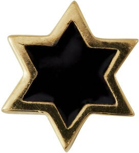 Design Letters Charm Star, Gold/Black