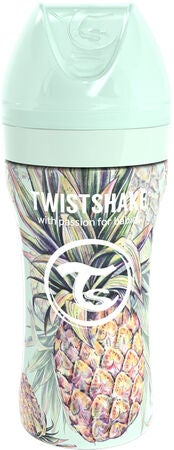 Twistshake Anti-Colic Stainless Steel Tåteflaske 330ml, Pineapple