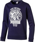 Puma Alpha Graphic Crew Genser, Peacoat